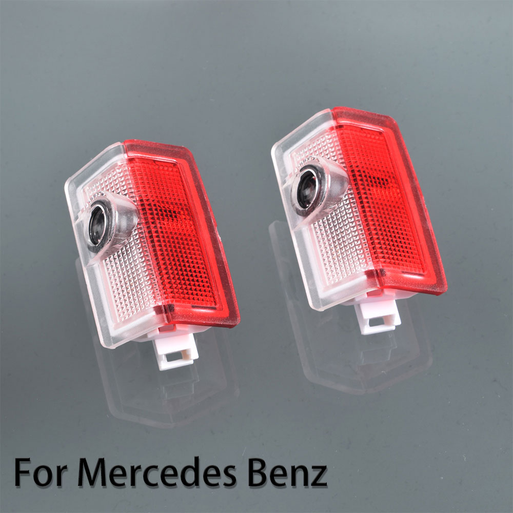 2pcs For <font><b>Mercedes</b></font> <font><b>Benz</b></font> <font><b>W205</b></font> W176 W212 W246 X166 ML GL AMG Logo Car Door <font><b>LED</b></font> Logo Laser Projector Lights Welcome Courtesy Lamp image