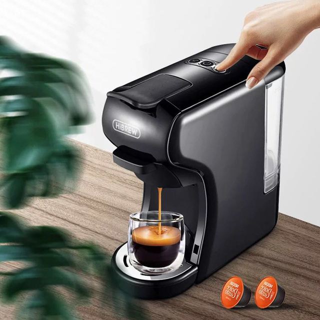 HiBREW expresso coffee machine capsule espresso machine, pod coffee maker Dolce gusto nespresso powder multiple capsule Appliances Consumer Electronics