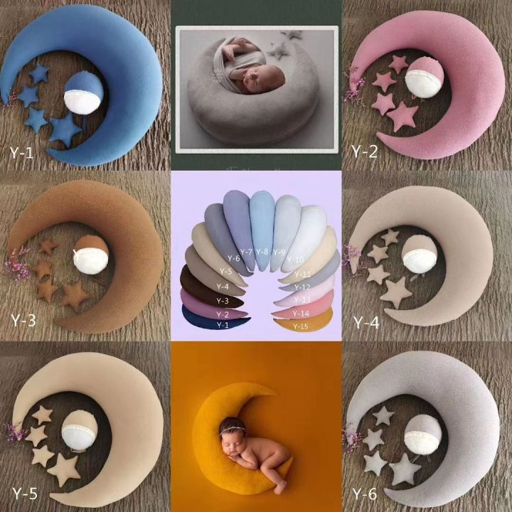 ½Hot DealsPillows Photography-Props Photo-Shoot-Accessories Moon-Shaped Newborn-Baby with 4-Stars
