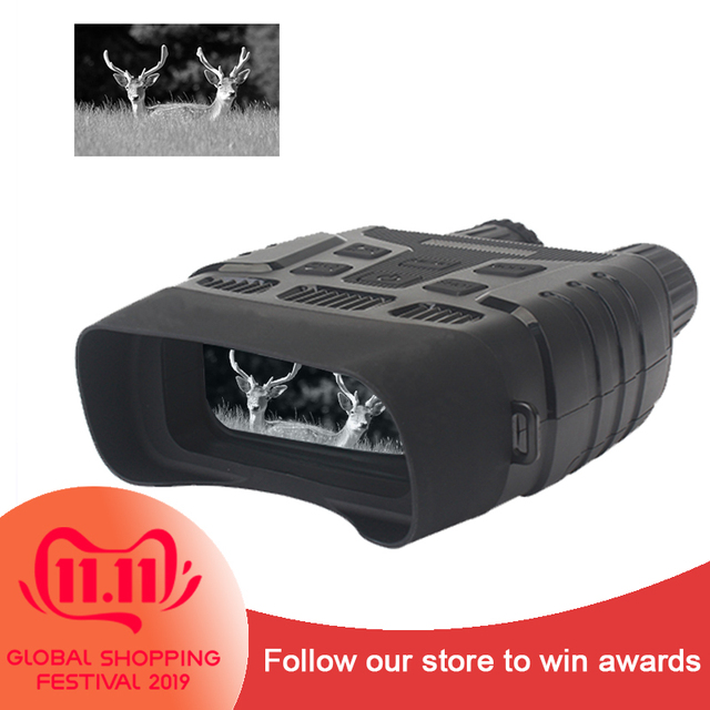 WILDGAMEPLUS NV300 Night Vision Hunting Glasses 3w 850nm IR Infared Spotlight Night Vision HD Binoculars Photo & Video Recording