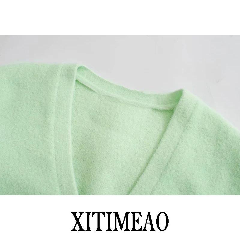 ZA Elegant Long Sleeve Sweater Women 2020 New Single Breasted Female Short Cardigan Soft Flexible Knitted Outwear