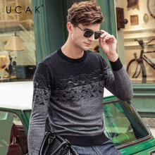 UCAK Brand 100% Merino Wool Sweater Men 2019 Autumn Winter New Arrival Cashmere Pullover Men Streetwear Fashion Pull Homme U3056 kenmont new arrival brand winter hat 100