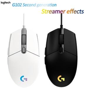 Image 3 - Logitech G102 LIGHTSYNC 2nd Gen przewodowa mysz do gier mysz optyczna do gier wsparcie pulpit/laptopa windows 10/8/7 2Gen mysz optyczna
