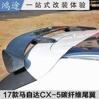Apto para MAZDA CX-5 CX5 2017 fibra de carbono spoiler asa