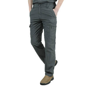 Cargo-Pants Loose Military Fleece Army Green Multi-Pocket Winter Big-Sizes Casual Men's