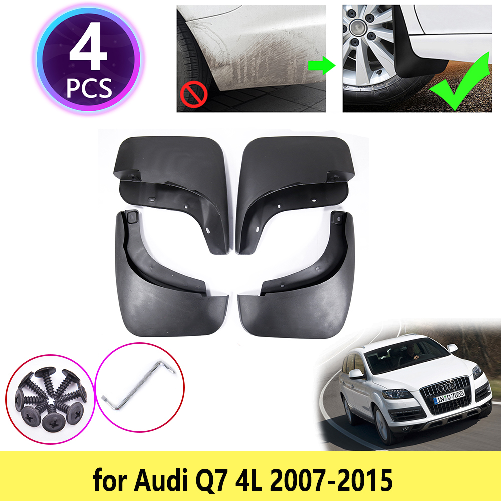 Для Audi Q7 4L 2007 2008 2009 2010 2011 2012 213 2014 2015 Брызговики аксессуары S-line