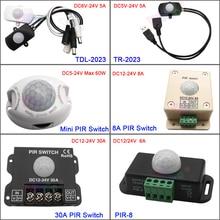 цена на Body Infrared PIR Switch Motion Sensor DC 5V 12V 24V Human Motion Sensor Detector LED Strip Light Lamp  Switch Automatic