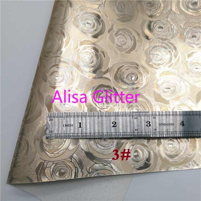 1 CHIẾC A4 KÍCH THƯỚC 21X29cm Alisa Long Lanh Hoa Hồng Vàng Lấp Lánh Chất Liệu Vải hoa Hồng Sọc Loài Rắn Gương Giả Da Vải cho Nơ DIY C41D