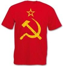 CCCP VINTAGE LOGO T-SHIRT - Soviet Union Hammer Communism Russia Socialism UDSSR 2020 New Mens T Shirts 2576Q