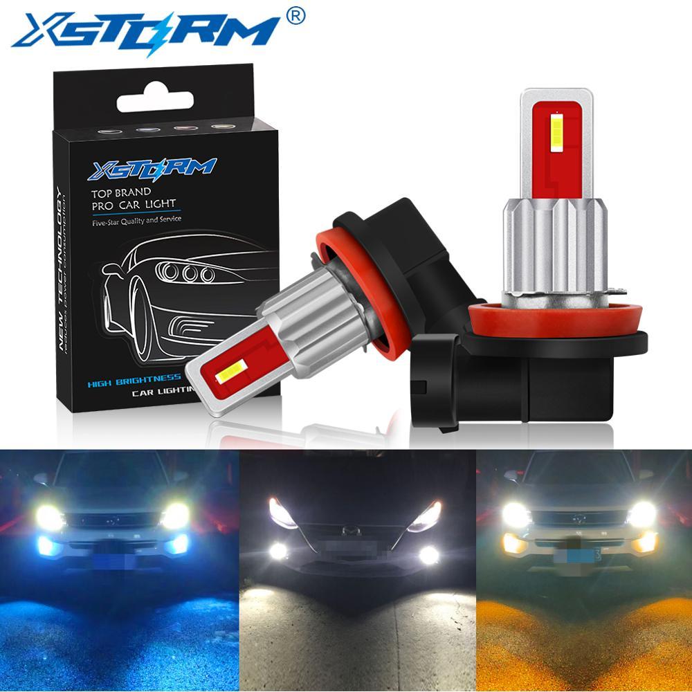 2Pcs H8 H11 Led Bulb 9005 HB3 9006 HB4 Led 1800LM CSP Car Fog Lights Day Driving Lamp Auto 12V 24V 6000K White Yellow Blue