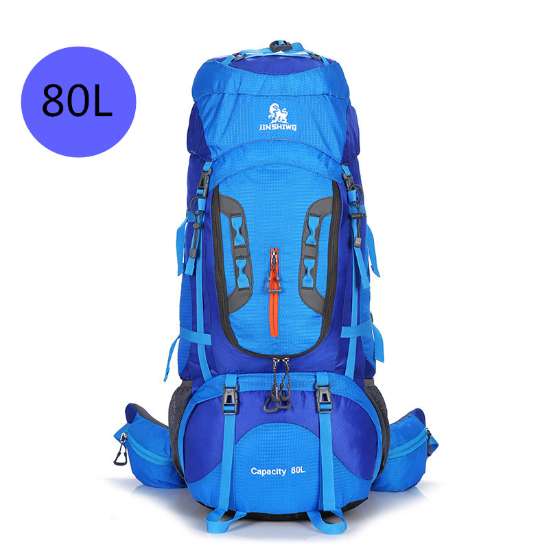 Large 80L Camping Hiking Backpacks Big Outdoor Bag Backpack Nylon Superlight Sport Travel Bag Aluminum Alloy Support