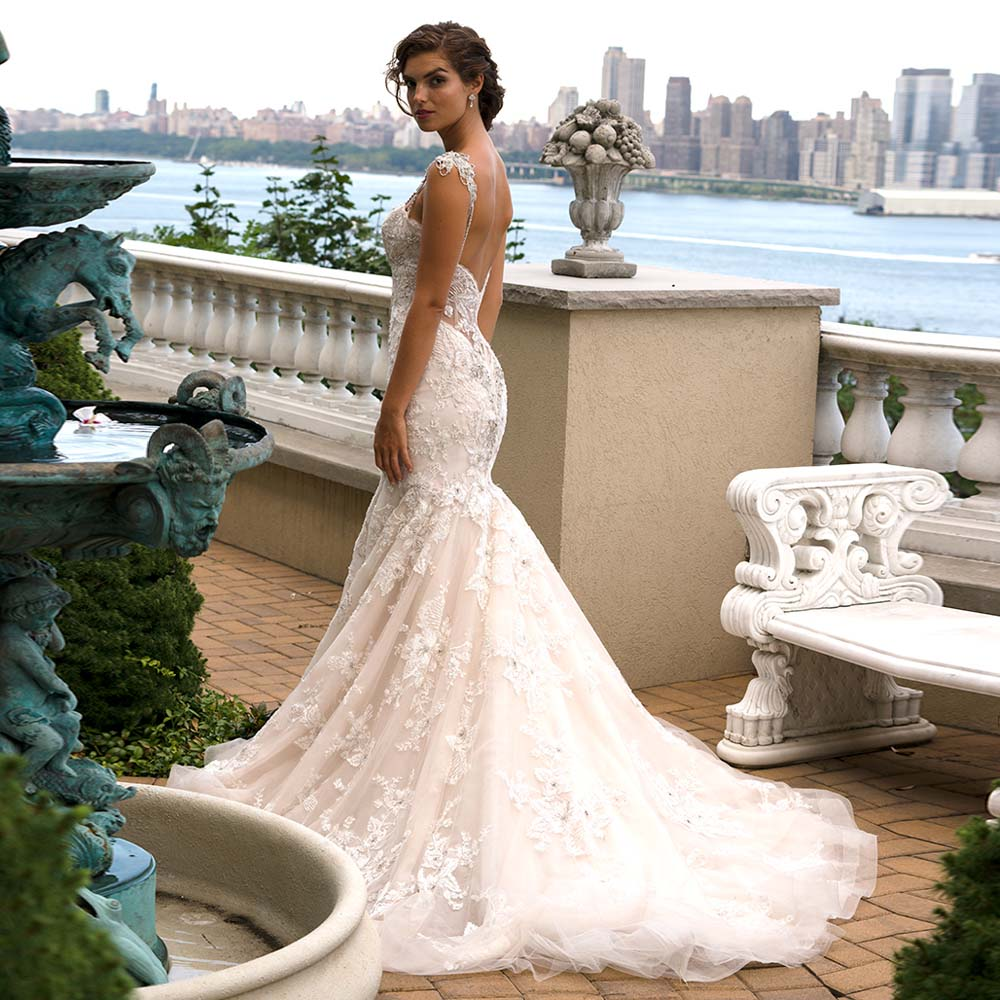 High Quality New Fashion Beading Lace Mermaid Spaghetti Straps Bridal Gown Custom Size Fast Shipping Mother Of The Bride Dresses