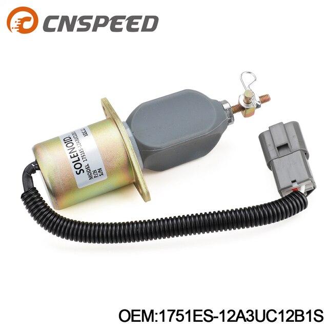 1751ES 12A3UC12B1S R60 5 Arresto Del Combustibile Solenoide per Hyundai Escavatore Yanmar 12V YC101632