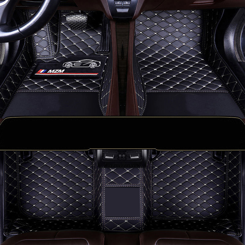 Leather waterproof Thicken car floor mat For fiat 500 punto tipo freemont bravo panda rugs carpets accessories