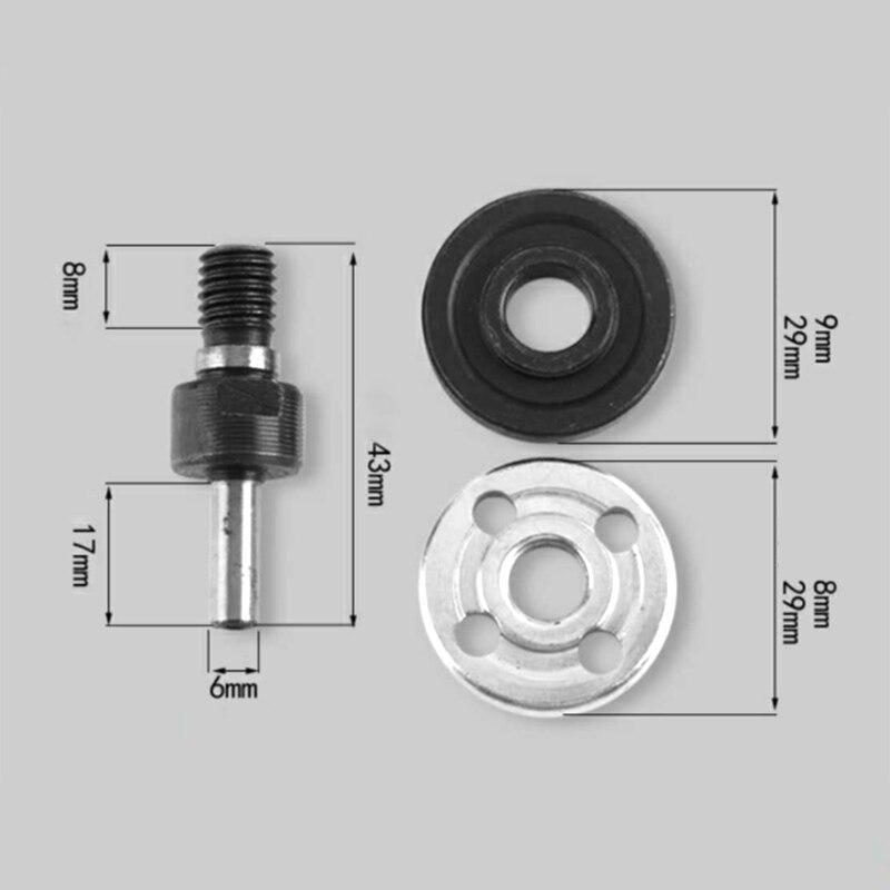 1 Set M10 16mm Triangle Drill Angle Grinder Mandrel Adapter Disc Holder Wrench Kit Grinding Cutting Ceramic Tile/metal Polishing