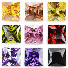 Size 1.5x1.5~10x10mm 5A Grade Square Shape Princess CZ Loose Color Cubic Zirconia Stone
