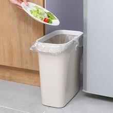 Ванная комната Кухонный зазор мусорный бак бытовой без крышки пластиковое кольцо давления-мусорное прямоугольное мусорное ведро для хранения