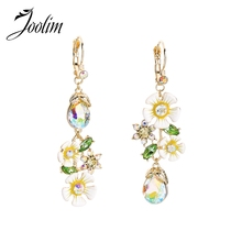 JOOLIM Romantic Flower Drop Earring Fresh Dangle