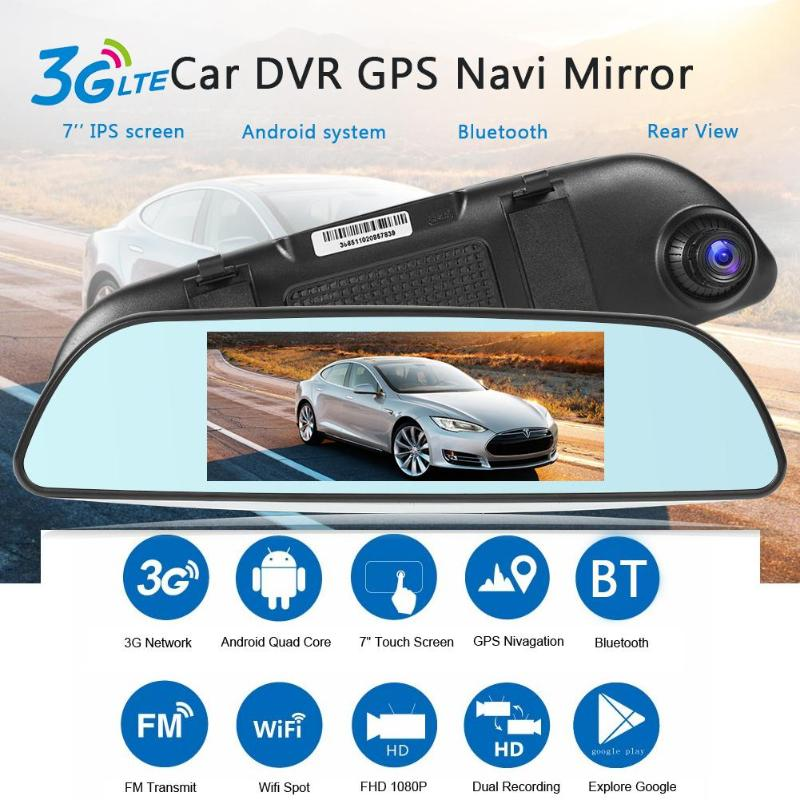 Newest 6 86 inch 3G Android Car DVR Camera GPS Navi Dual Lens WiFi Bluetooth FM Dash Cam Digital Video Recorder GPS navigation in DVR Dash Camera from Automobiles Motorcycles