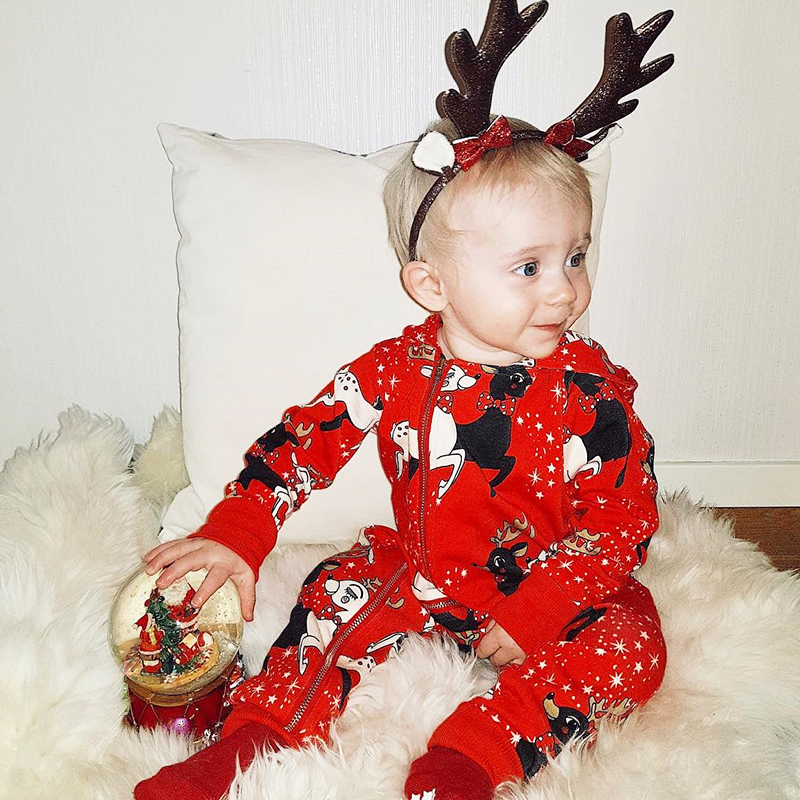 Tinypeople Baby Christmas Jumpsuits Boys Cotton Plaid Playsuit Santa spring Girls Overall Infant Clothes Toddler Onesie Rompers