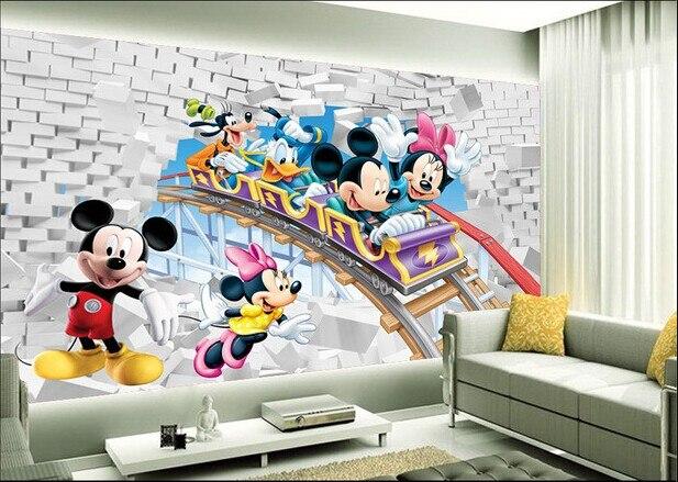 Custom Papel DE Parede Infantil, Roller Coaster Cartoon Murals For Children Room, Boys And Girls Bedroom Wall Wallpaper