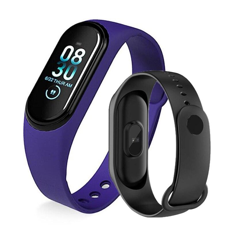 M4 Banda Inteligente Pulseira De Fitness Esporte Heart Rate Monitor de Pressão Arterial Inteligente Pulseira Smartband Atividade Rastreador pk mi banda 4 3
