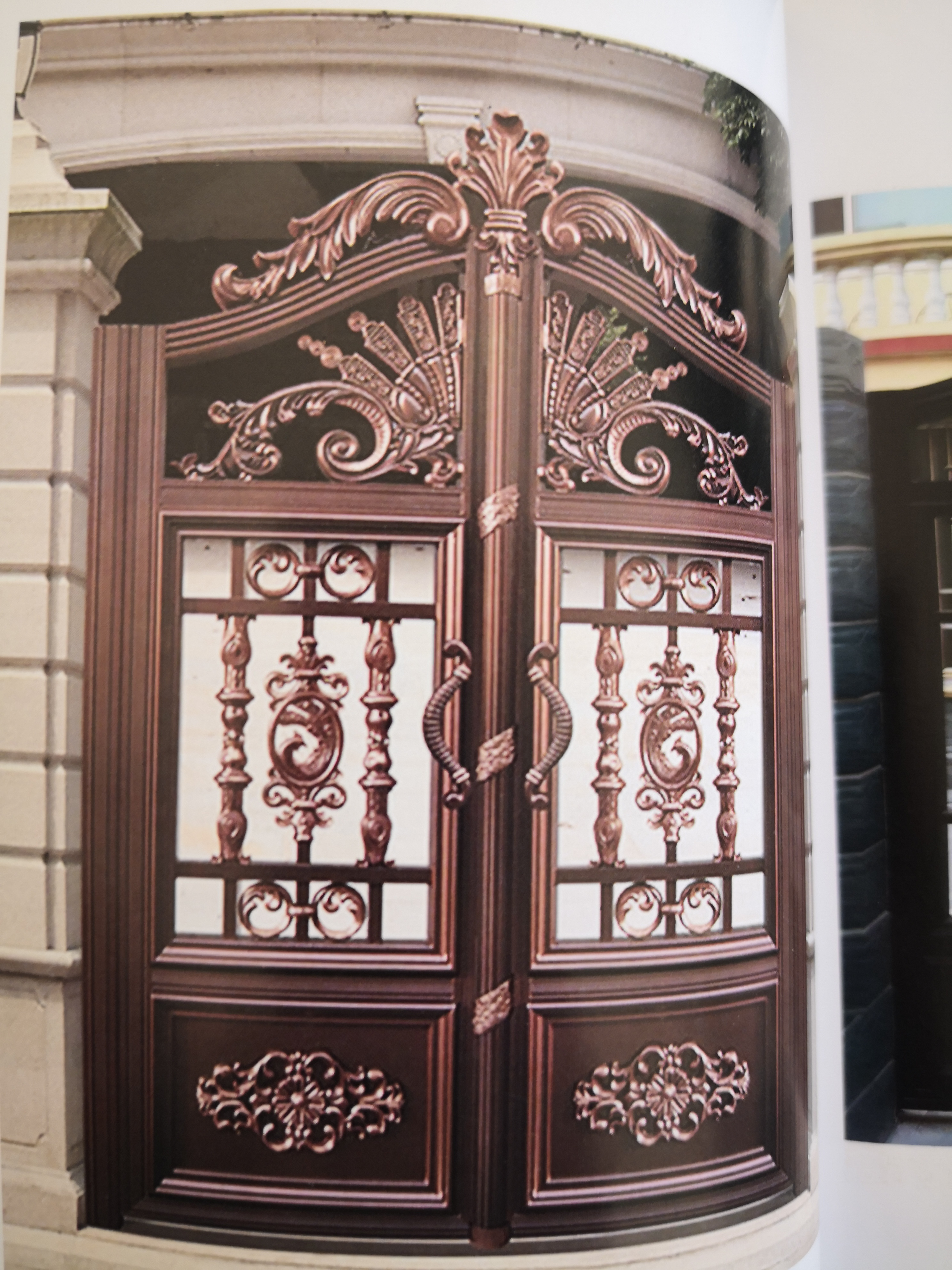 Shanghai Hench  Custom USA Australia Home Use Decorative Aluminium Rod Iron Gates For Sale