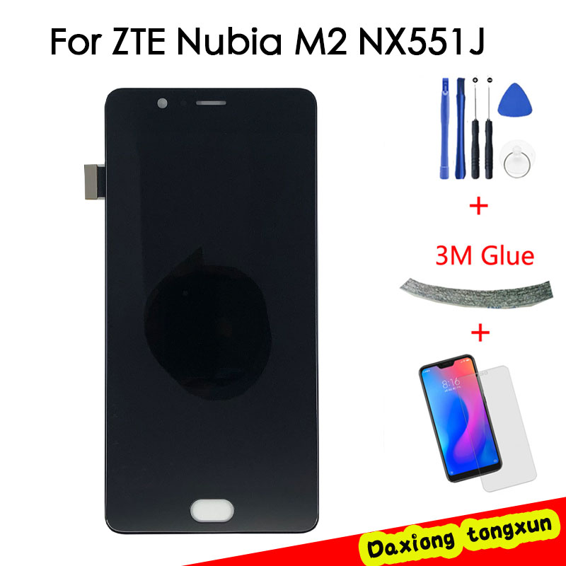For ZTE Nubia M2 <font><b>NX551J</b></font> LCD Display Touch Screen Digitizer For ZTE Nubia M2 Display Assembly Replacement Screen LCD image