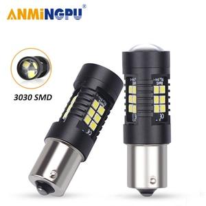 ANMINGPU 2x Signal Lamp 1156 Led BA15S P21W BAU15S 3030SMD 1157 Led Canbus BAY15D P21/5W For Cars Turn Signal Reverse Light 12V