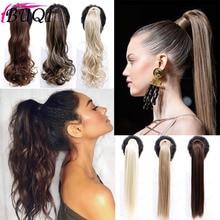 BUQI модные длинные прямые и кудрявые конский хвост обернуть вокруг клип в конский хвост волосы для наращивания термостойкие волосы хвост головной убор