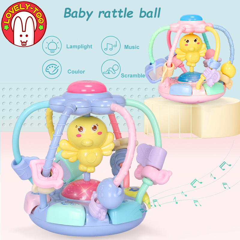 Baby Rattle toys Activity Ball Rattles Educational Toy For Children Grasping Ball...
