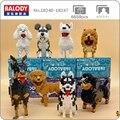 Balody Dobermann Pudel Dackel Husky Schnauzer Chowdren Bull Terrier Hund Tier Pet Mini Diamant Blöcke Gebäude Spielzeug keine Box