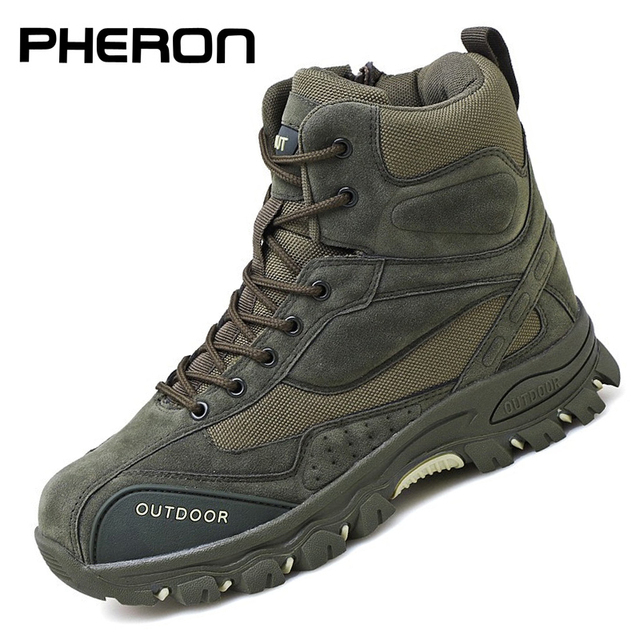 Tactical Military Boots Men Genuine Leather US Army Hunting Trekking Camping Mountaineering Winter Work Shoes Zapatos Hombre 1