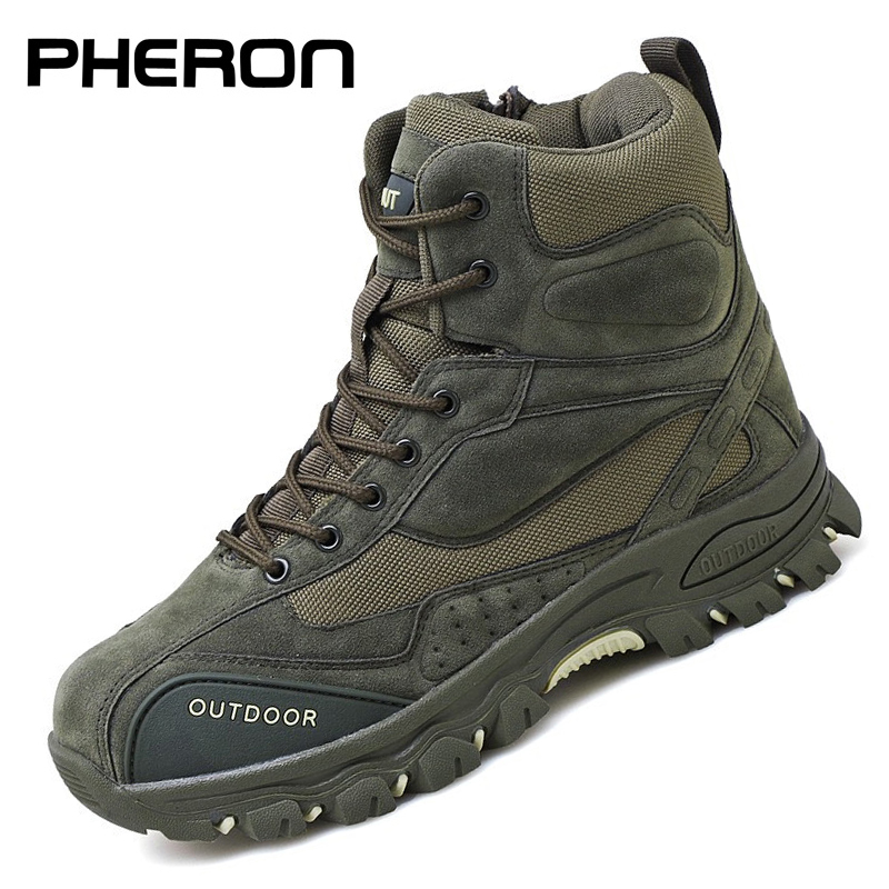 Tactical Military Boots Men Genuine Leather US Army Hunting Trekking Camping Mountaineering Winter Work Shoes Zapatos Hombre