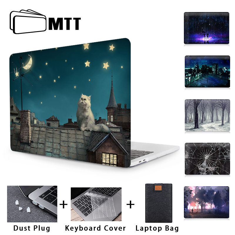 MTT Laptop Case Cover For Apple Macbook Air Pro Retina 11 12 13 15 16 inch Touch Bar Model A1534 A1706 A1932 A2159 A2141 Funda image