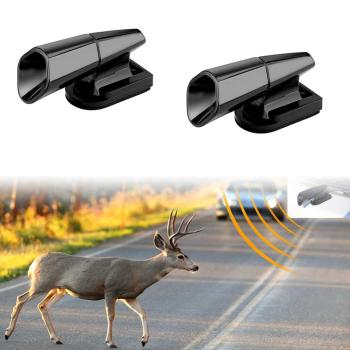 2Pcs Ultrasonic Animal Savingcar wind driven tweeter animal drive animal whistle animal warning device out of the forest wild dr фото