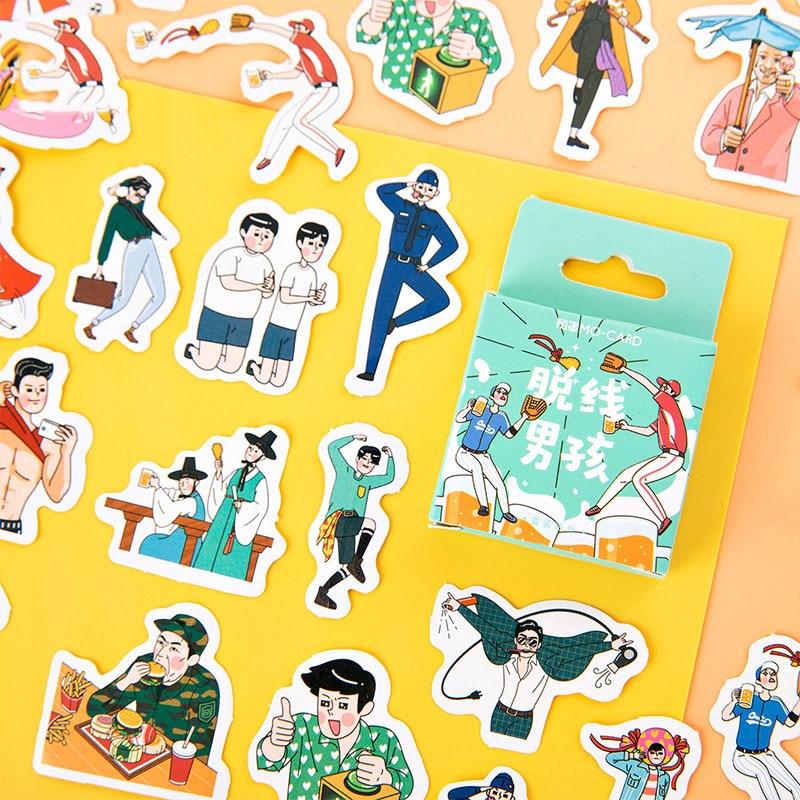 Mohamm Snack Pocket Series Kawaii Cute Sticker Custom Stickers Diary Stationery 45 Pcs