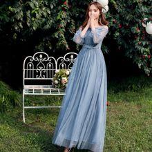 Abiti da damigella donore lungo vestito della signora per la cerimonia nuziale guest dress abiti da festa vestidos de fiesta de noche PRO30069