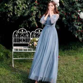 Bridesmaid dresses long lady dress for wedding guest vestidos de festa fiesta noche PRO30069 - discount item  50% OFF Wedding Party Dress