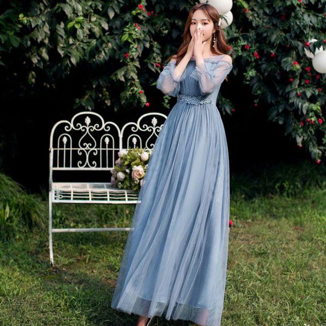花嫁介添人ドレスロング結婚式のゲストドレス vestidos デフェスタ vestidos デフィエスタ · デ · ノーチェ PRO30069