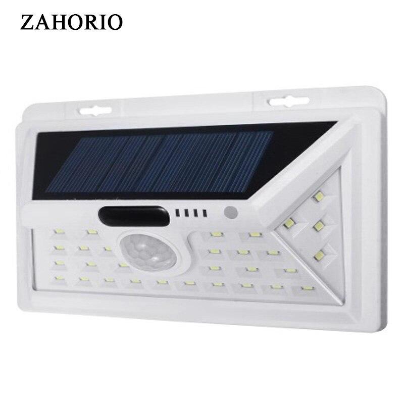 ZAHORIO LED Solar Lights Outdoor Motion Sensor Wall Lamps Waterproof Emergency Light Suitable For Garden Front Door Garage Fence