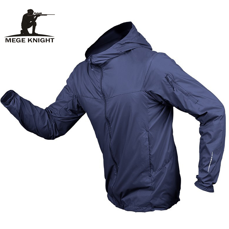 MEGE Brand Tactical Jacket Fast Dry Ultra Light Military Army Clothing Male Outwear Multi Pockets UV Protection Dropshipping