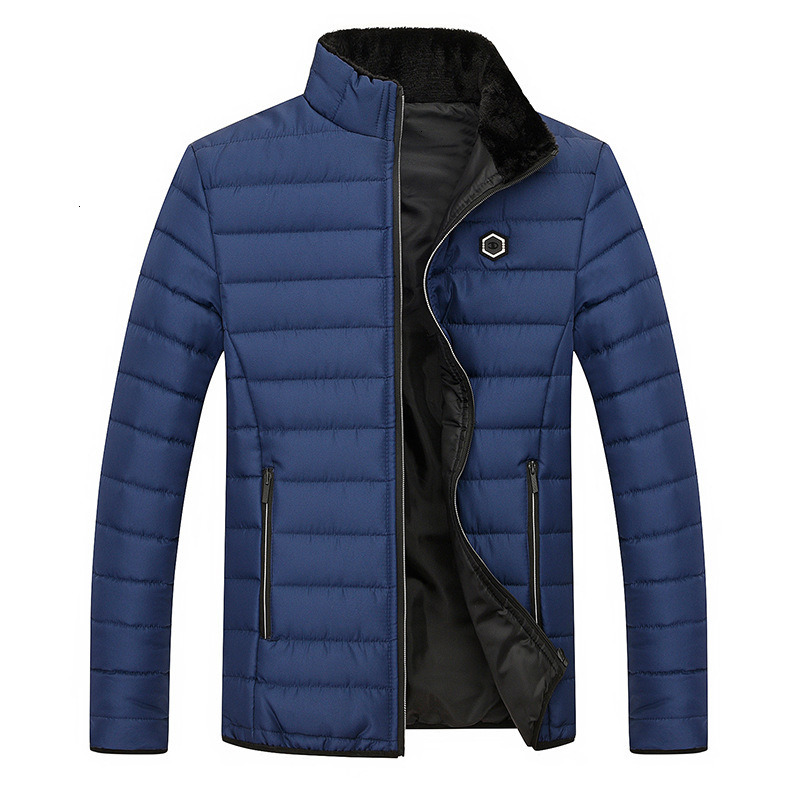 Quality Windbreakers Brand Men's Jackets And Coats Solid Stand Cotton Bomber Jacket Men Outerwear Winter Male Clothing Coat