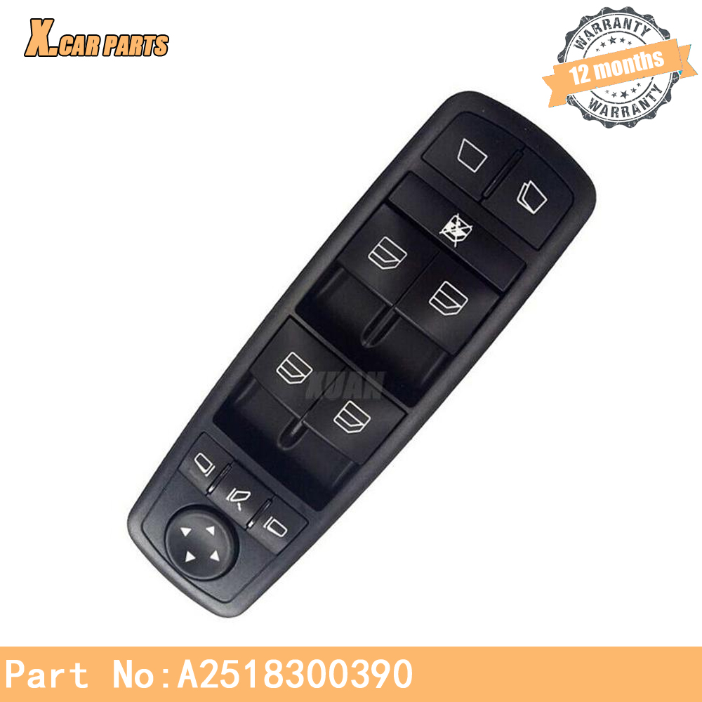 Power Window Switch Control Master Switches A2518300390 For Mercedes Benz GL 320 350 450 R 280 300 320 350 500 550 63 AMG image