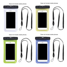 phone case  Lightweight Luminous Waterproof PVC Mobile Phone Bag With Dual Swivel Lock Sealable Closure Clip Strap
