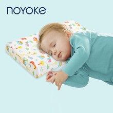 Çocuk yastık doğal lateks bebek yatağı uyku için yastıklar karikatür baskı çocuk yastıklar yatak odası uyku 0 12 yaşında