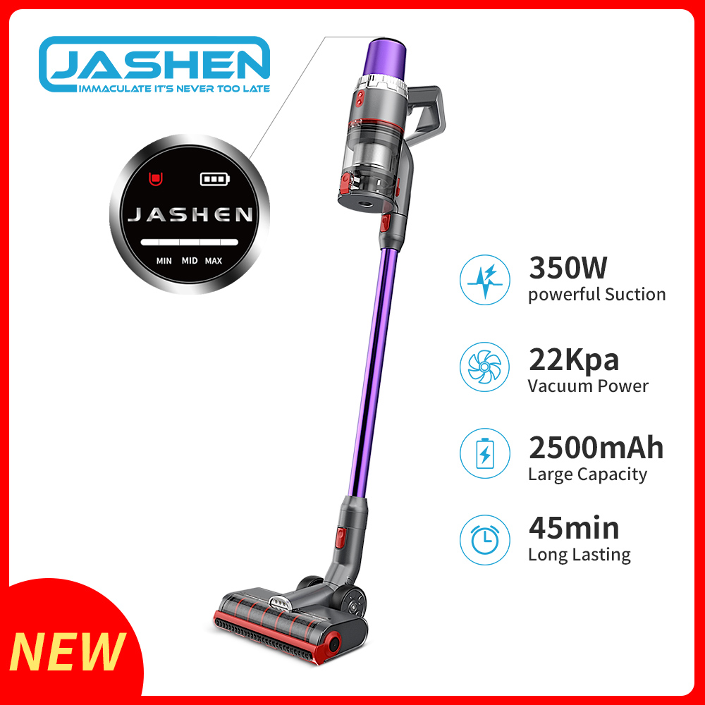 Cordless Vacuum Cleaner, 350W Strong Suction Stick Vacuum Ultra-Quiet Handheld Cordless Vacuum Wall Mounted Dual Charging