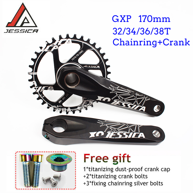 JESSICA GXP Crankset Offset 6mm 32-38T Chainring Narrow Wide MTB Bike Sprocket