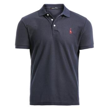 AIOPESON New Man Polo Shirt Mens Casual Deer Embroidery Cotton Polo shirt Men Short Sleeve High Quantity polo men 1