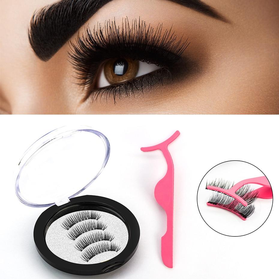 Magnetic Eyelashes Extension Natural False Eyelash Magnets Reusable 3D Magnetic Fake Eye Lashes Makeup 2/3/4 Magnet Dropshipping